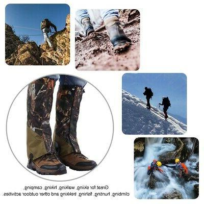 Outdoor Hunting Hiking Boots Gaiters Snow Leg Shoes