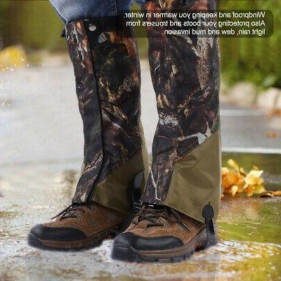 outdoor hunting hiking boots gaiters waterproof snow