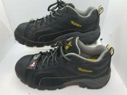 Caterpillar Men's Hiking Black Leather Lace Up Size 6.5