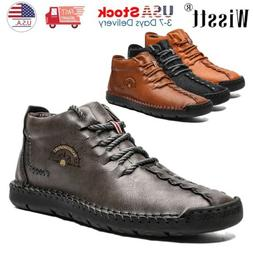 Men's Leather Casual Shoes Breathable Driving Loafers Moccas