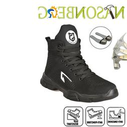 Men's Steel Toe Safety Shoes Work Boots Casual Hiking Climbi