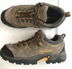 Columbia Mens Birkie Trail Brown Athletic Hiking Shoes Size
