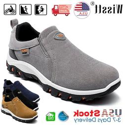 Mens Casual Shoes Slip On Outdoor Sneakers Breathable Hiking