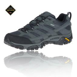 Merrell Mens MOAB 2 GORE-TEX Walking Shoes Black Grey Sports