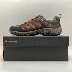 Merrell Mens Ridgepass Hiking Shoes Espresso Brown Low Lace