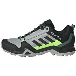 Mens Adidas TERREX AX3 Grey Black Lime All Terrian Hiking Sh