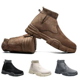 5 Pairs Mens Warm Snow Casual Boots Winter Outdoor Fur-lined