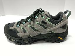 Merrell Moab 2 Waterproof Black/Grey/Blue Hiking Athletic Sh