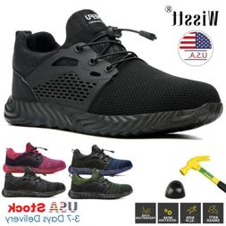 Mens Work Safety Shoes Steel Toe Boots Indestructible Outdoo