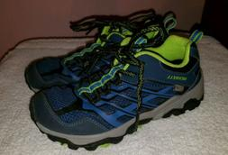 Merrell Youth Boys Moab Low Navy Waterproof Hiking Shoes US